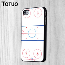DIY Beautiful Ice Hockey Rink Design Pattern Custom Made Mobile Phone Housing Protective Cover For iPhone 4 4S Cases