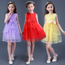 Girls dress for party for 5--16 years old kids wedding gowns baby clothes flower fashion elegant summer style cheap princess