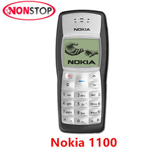 1100 Original NOKIA 1100 Unlocked Mobile phone GSM 2G Refurbished Nokia Cell phone Free Shipping(China)