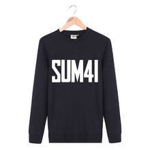 Flash Sale New 2017 Fashion Antumn Clothing Male Cotton Knitted Pullover Sum41 Rock Band Sweatshirts Men Hip Hop Punk XXL