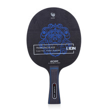 1Pair Long Handle Table Tennis Paddle Ping Pong Racket Two-Side Rubber 7 Layers Wood Long Pad Sets With 3 Balls Super Glue