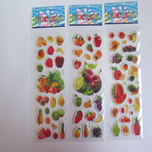 wholesale 10pcs/lot  Baby Girls and Boys Cartoon Fruit Stickers Best Gift for Children Kids Educational Toys