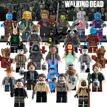 Building Blocks The Walking Dead Guardians of the Galaxy Pirates of the Caribbean Star Wars Figures Bricks Kids DIY Toys Hobbies