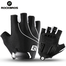 Buy ROCKBROS Running Gloves Cycling Bike Half Finger Shockproof Breathable MTB Bicycle Gloves Men Women Sports Gym Accessories for $8.00 in AliExpress store