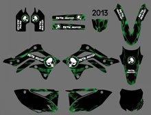 Style (0397) Dark Green TEAM GRAPHICS & BACKGROUNDS DECALS STICKERS Kits Kawasaki KX450F KXF450 2013 KX 450F KXF 450 - DIRT BIKE store