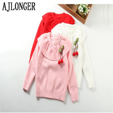new autumn winter children sweaters 2-6 years girls' sweaters cotton children sweet princess cardigans