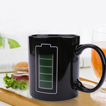 2017 New Magic Color Changing Mug Heat Sensitive Cups Battery Handgrip Ceramic Magical Temperature Changing Coffee Mugs Gifts(China)