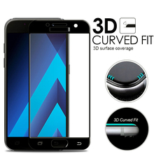 3D Curved Full Cover Tempered Glass For Samsung Galaxy A5 2017 A3 2017 A7 2017 A320 A520 A720 Screen Protector Protective Film