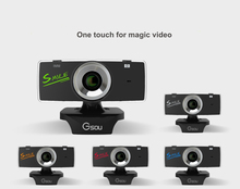 Mini USB 2.0 webcam hd 1080p Webcam Camera Web Cam Pixel Camera cheap webcam with microphone For Skype Computer PC Laptop gucee(China)