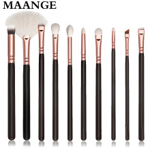 10 Pcs/set Professional Makeup Brushes Sets Eyeshadow Blending brush Powder Foundation wood rose gold Make up brush cosmetic Kit