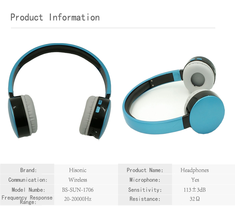 Hisonic Bluetooth Headset Wireless Headphones Stereo Sport Earphone Microphone Gaming Cordless Auriculares Audifonos 1