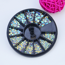 2017 New Transparent Crystal Rhinestone Glitter Bead Pearl Wheels Nail Art Jewelry DIY Nai Art Manicure Accessories Tool M03500