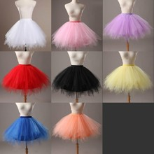 Short Girl Petticoats Puffy 8 color Tulle Underskirts Wedding Accessories For Short Dress Flower Girl Pageant Gowns