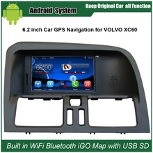 6.2 inch Android Capacitance Touch Screen Car Media Player for VOLVO XC60 GPS Navigation Bluetooth Video player