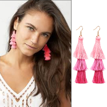 JUJIA fashion Designer tassel earrings Jewelry Hot Selling women long Gabriela Fringe Drops
