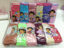 12pcs/lot Wholesale Fast Shipping Girl's Dora Briefs Children Underwear Pants Kid's Cute Cartoon Underwear 6 Colors/Bag 6Sizes(China)