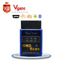 Latest Version MINI ELM 327 Bluetooth Diagnostic Tool Vgate Scan OBD2 / OBDII ELM327 V2.1 Code Scanner