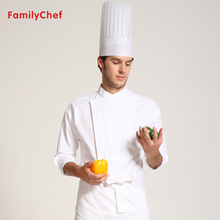 Hot Cook suit long-sleeve spring and autumn chef uniform cook work wear clothes unisex