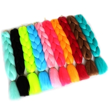 Shumeier 30colors 24Inches Synthetic Jumbo Crochet Braids Hair Extension Colored kanekalon Crochet Braiding Hair Extensions