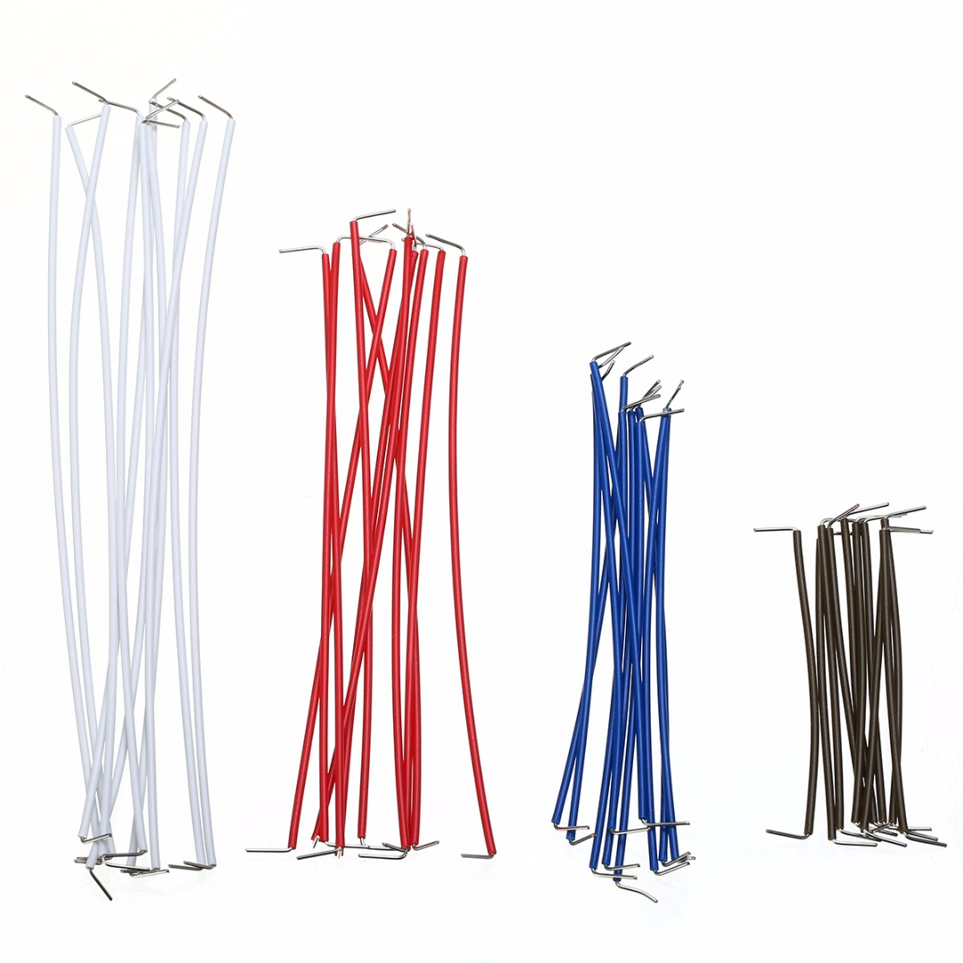 140pcs 22 AWG Solid Wires Cable Kit Set Solderless Breadboard Jumper with Plastic Box