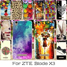 Silicon Mobile Phone Case For ZTE Blade X3 D2 T620 5.0 inch Blade D2 Blade T620 Cover Angel Girls Shell Housing For ZTE X3 Case