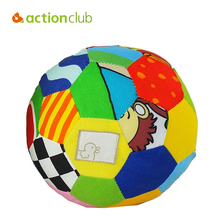 Actionclub Baby Toys 0-12 Months Educational Baby Mobile Shaker Colorful Cloth Ball Infantil Hands Eyes Trainning Rattle