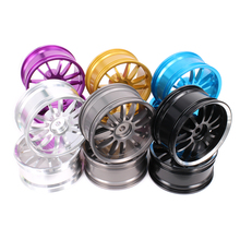 12 spoke Wheel Rim w/o Tire For Rc 1/10 On-Road Racing Crawler tyre Axial Wltoys Himoto HPI Traxxas Redcat CNC Drifting Climbing