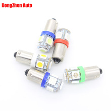 10X 24V T11 BA9S 5 5050 LED Car External Light Car Styling T4W H6W Indicator License Plate Dome Festoon Light Source Xenon Lamp