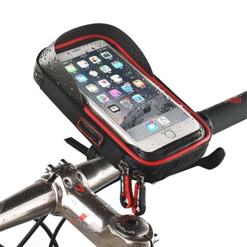 Phone Holder Universal Bike Motorcycle Mobile Support Stand Waterproof Bag for iphone X 8 S8 S9 GPS Bicycle Holder Handlebar Bag