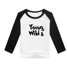 tshirt fashion baby tee shirts raglan sleeve clothes young wild baseball pattern hot selling
