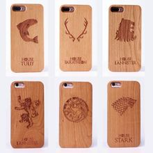 For Apple iPhone 5 5S 6 6S 6Plus 7 7Plus  Game of Wood Case Cover Coque Capas Fundas For SAMSUNG Galaxy S6 S7 Edge S8 plus