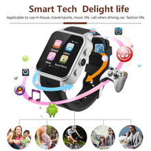 Factory Price Digital Smartwatch Bluetooth Multi-Function Sim card Device Wrist Watches Best hot selling 3G Smart Watch phone(China)