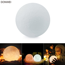 Desktop Decor 3D Fantasy Moon Night Light Rechargeable 3 Colors Dimming Atmosphere Lights for Christmas Valentine's day