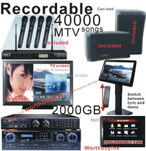"HDD Karaoke Player Machine Recordable Jukebox System with 19""TouchScreen Complete Karaoke System(China)"