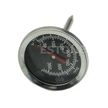 Stainless Steel New Oven Cooking Milk BBQ Meat Food Thermometer Gauge 400 centigrade