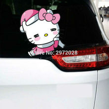10 x New Design Cute Hello Kitty Creative Auto Decal Cartoon Car Sticker Bumper Body Decal Creative Pattern Vinyl