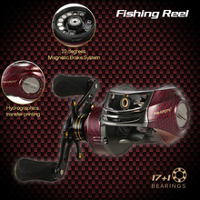 17+1 Ball Bearings Left / Right Hand Bait Casting Fishing Reel Gear Ratio 6.3:1 Baitcasting Reel Fishing Tackle Tool Pesca