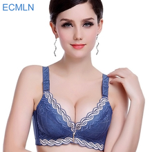 Female Underwear small breast Push Up Bra minimizer deep vs 5cm thick Padded brassiere lace bras for women pushup bra  intimates
