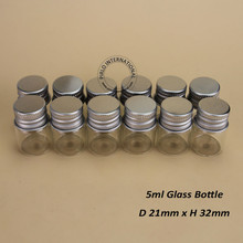 12pcs/lot Promotion 5ml Glass Perfume Oil Sample Vial Bottle Protable Mini Glass Bottles With Aluminium Cap Women Cosmetic Box