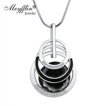 Meyfflin Collier Femme Long Necklaces & Pendants for Women Round Statement Necklace Maxi Colar Chain Fashion Jewelry 2017 Bijoux(China)