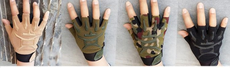 The same paragraph Phoenix men and women half finger gloves outdoor sports riding military fan seals gloves<br>