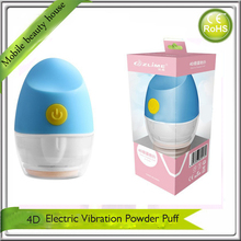 Flawless Electric 4D Auto Cosmetic Facial Beauty Makeup Vibration Foundation Powder Puff Applicator