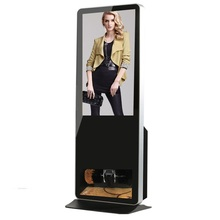 "42"" Floor Standing LCD Display With Shoe Cleaning/Polisher Function,Full HD Auto Shoes Clean Shoe Polishing Media Player Machine"