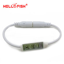 Hello Fish DC plug single color LED strip controller Mini 3 key control,Only for 3528/5050 Single color LED Strip Light