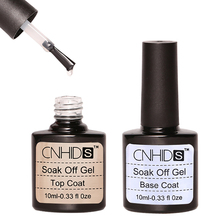 CNHIDS 10ml 2pcs/lot Nail Polish Top Base Coat Nail Gel Set One Step Shiny Sealer Manicure UV LED Soak Off Gel Lacquer(China)