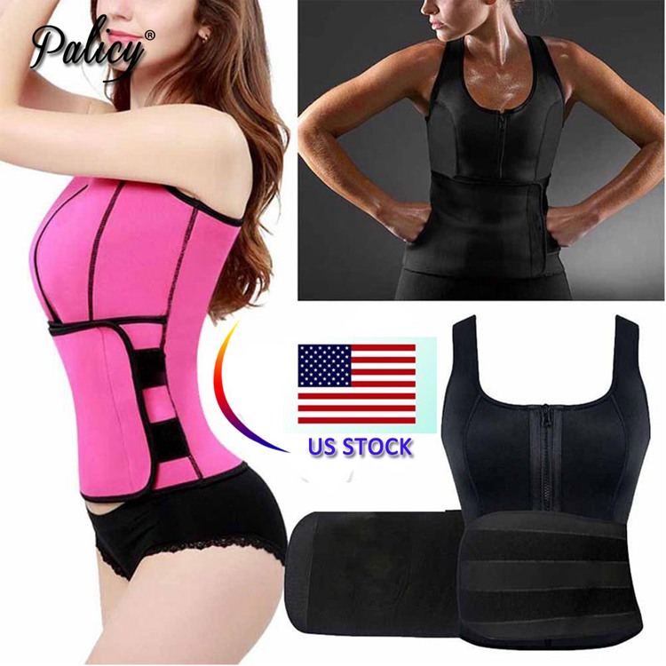 Palicy Neoprene Sauna Vest Body Shaper Slim Waist Trainer Fashion Fajas Girdle Workout Shapewear Adjustable Sweat Belt Corset 3