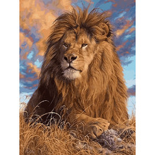 Frameless DIY Oil Painting By Numbers Kits Animals Lion Painting On Canvas Home Decoration Home Wall Art Picture Artwork 40x50cm