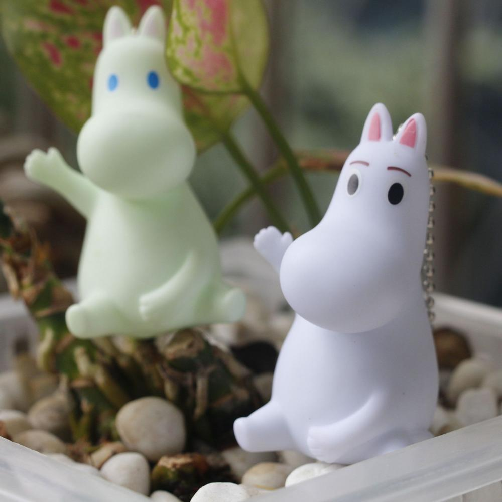 Moomin Hippo PVC Action Toy Figure Keychain Pendant Lovely White Hippo for Kids<br><br>Aliexpress