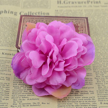 10cm artificial flower dahlia  diy handmade silk flower corsage flower head cap decorated flowers