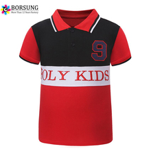 BORSUNG Latest Summer Boys Kids Fashion Polo Shirt Children 2-8Y Boys Patchwork Short Sleeve Tops Sports Tee Polo Shirts(China)